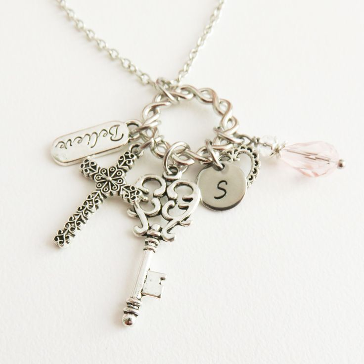 Personalized cross necklace, religious jewelry
