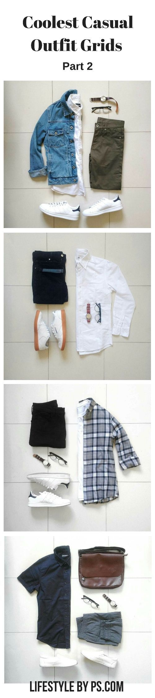 casual outfit grids #mens #fashion