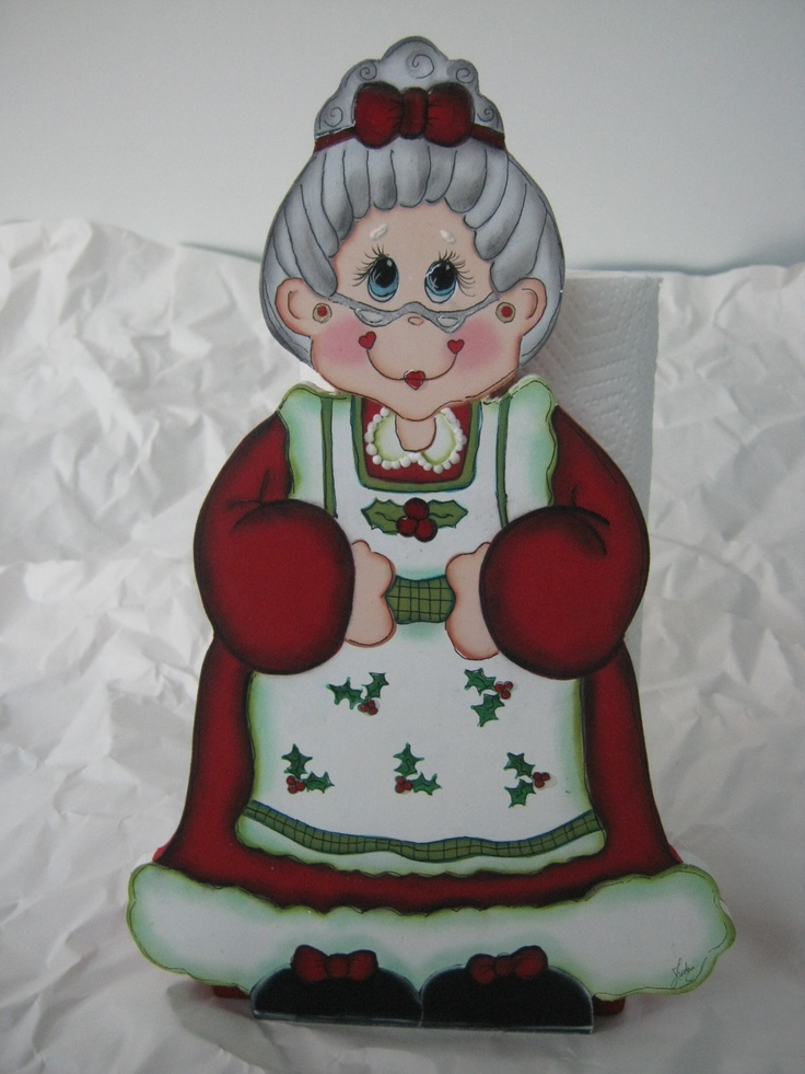 Christmas kitchen paper holder