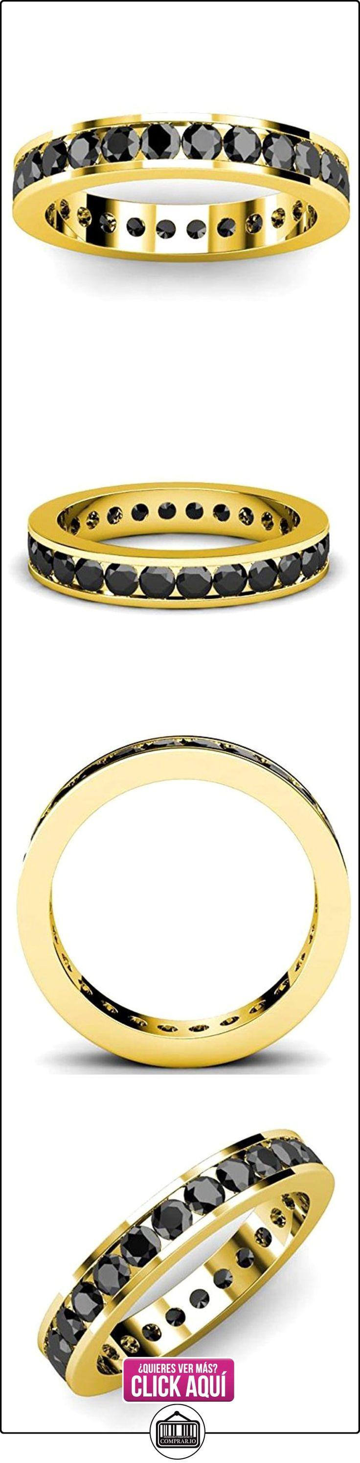 Mejor Vendedor... 1,50quilates Negro Diamond Full Eternity–Anillo, Oro Amarillo  ✿ Joyas para hombres especiales - lujo ✿ ▬► Ver oferta: https://comprar.io/goto/B01EOOFTYY