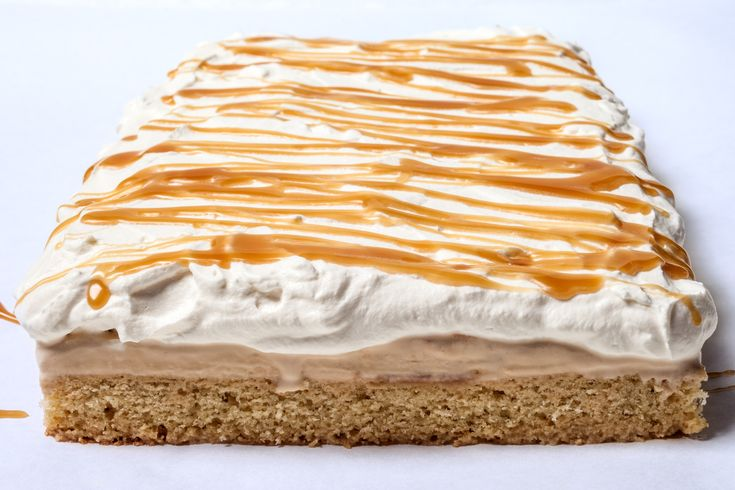 Vanilla–Salted Caramel Ice Cream Cake with Whipped Cream