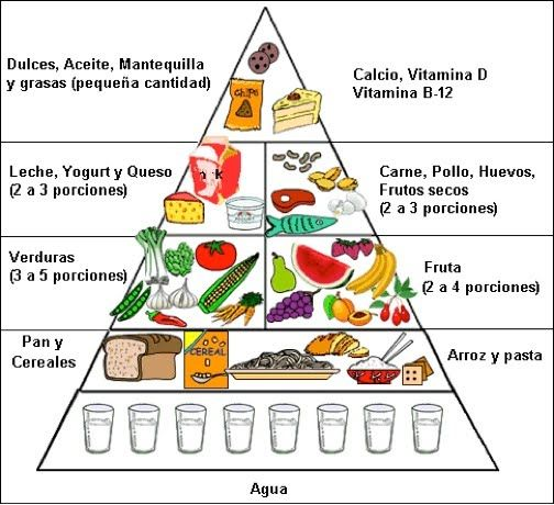 Image result for food pyramid in spanish