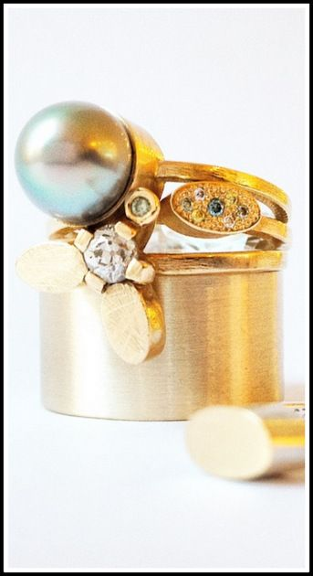 TAHITIRING, OBLONGRING WITH COLOURDIAMONDS FIREFLYRING & TUBERING