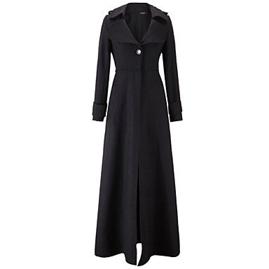 Women's+Fashion+Casual+Party+Work+Long+Sleeve+Plus+Size+Trench+Coat+–+USD+$+39.99