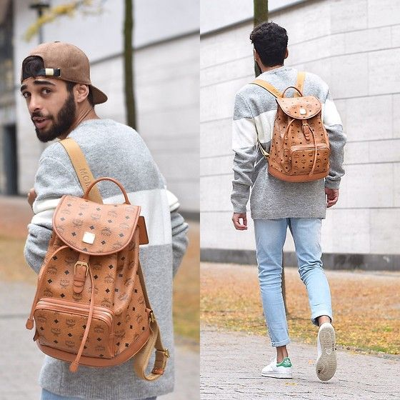 Get this look: http://lb.nu/look/8050638  More looks by Manij A.: http://lb.nu/manij  Items in this look:  Mcm Backpack, Bershka Sweater, Pull & Bear Cap, Adidas Shoes, Cheap Monday Jeans