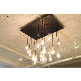 Urban Chandy Industrial Chandelier with Vintage Edison Style Bulbs