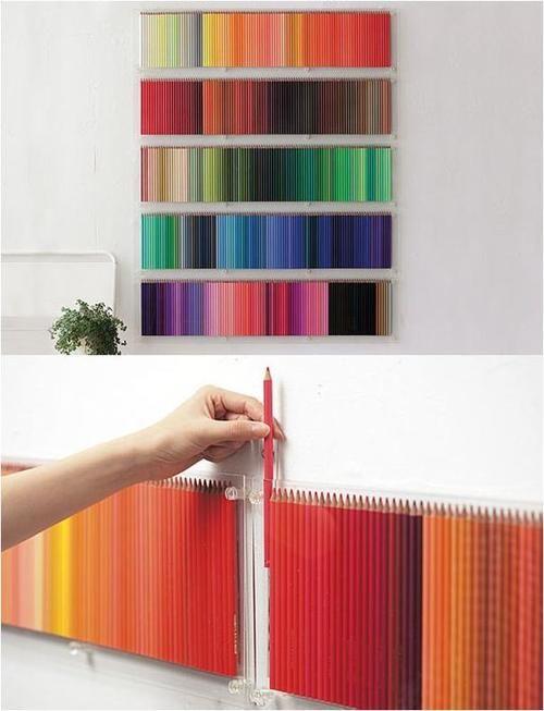 Cuadro de lápices de colores, muy original!