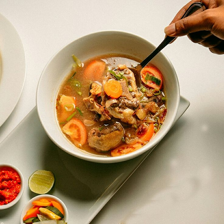 Oxtail Soup Ready To Serve For Your Lunch