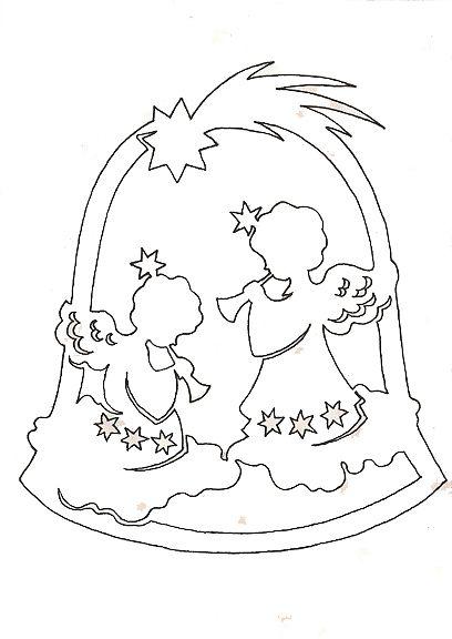 Рождественские ангелы (шаблоны)