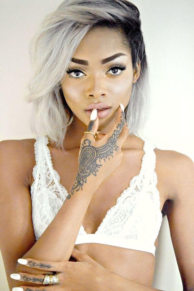 Nyane Lebajoa; love her hand tattoos and her hair