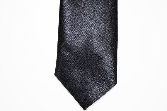 Mens Necktie Black Modern Style Skinny Tie by HelloMrSmith on Etsy | See more about Skinny Ties, Men Ties and Ties.