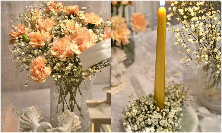 Bajeczny Ślub Świdnica: Dekoracja stołu weselnego / dekoracja sali Świdnica- gipsówka