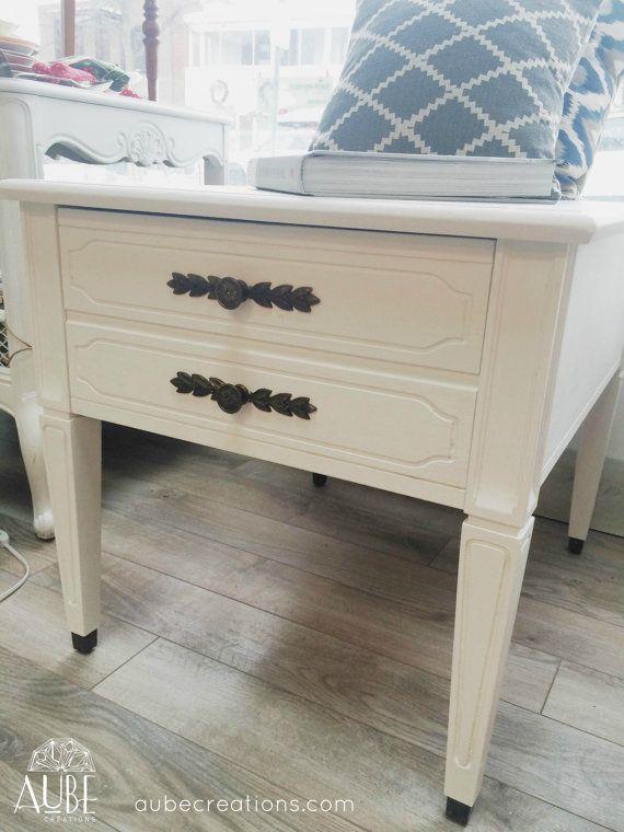 Table basse peinte blanche chalk paint white tables - Table basse peinte ...