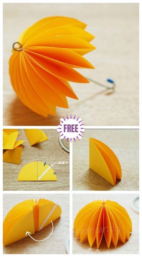 Kids Craft Easy Origami Paper Umbrella Tutorial de bricolaje