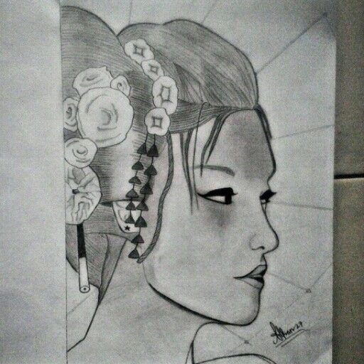 #Sketch #Geisha