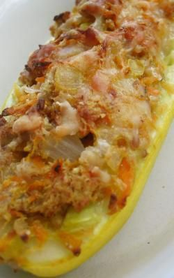 Stuffed Squash - Going to make this for my little one to introduce onions