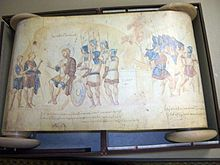 El Rollo de Josué, un ejemplar manuscrito probablemente del siglo X, expuesto en el Salón Sixtino.