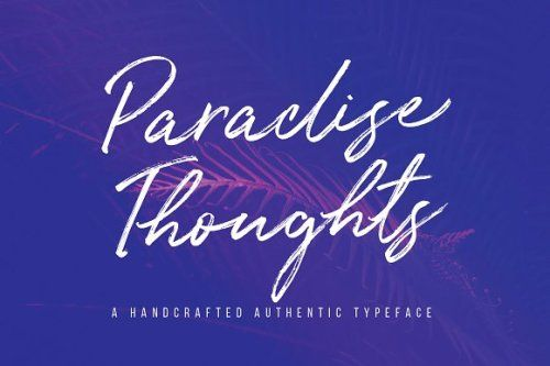 designeour:  Paradise Thoughts Typeface by Mats-Peter Forss...