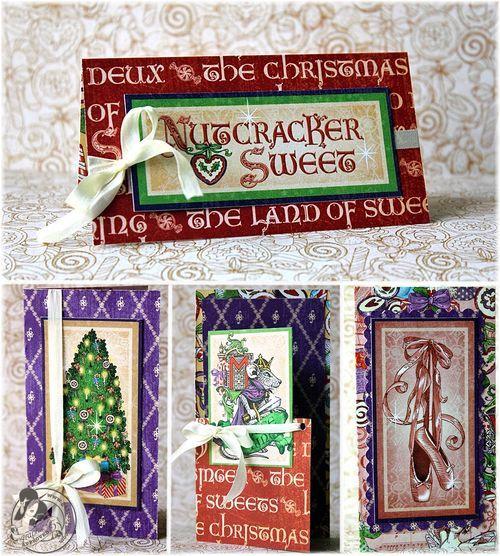 Graphic 45:  Nutcracker Sweet Matchbox Cards