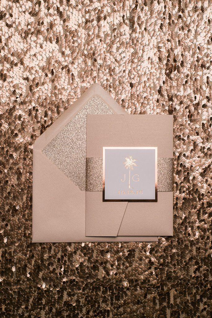 KONA Suite Ornate Glitter Pocket Folder Package. Einladungskarten HochzeitErröten  HochzeitseinladungenDestination HochzeitenRose ...