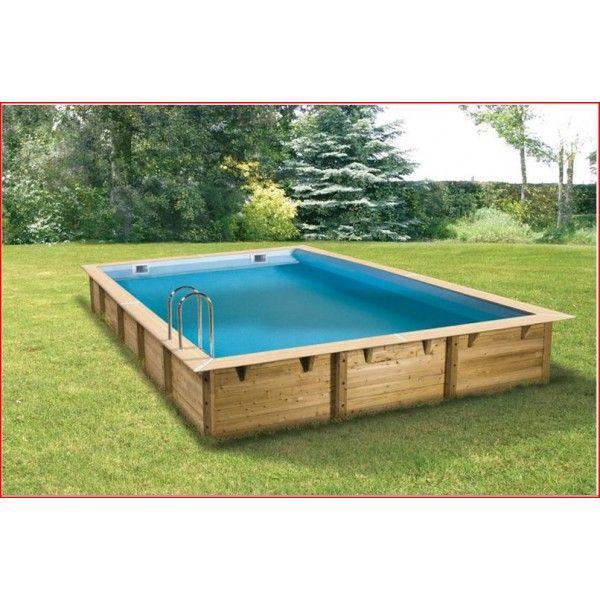 Un kit piscine Nortland Linéa rectangulaire de 8m sur 5m et de 1.40m de hauteur avec un liner bleu - Piscines - Zyke