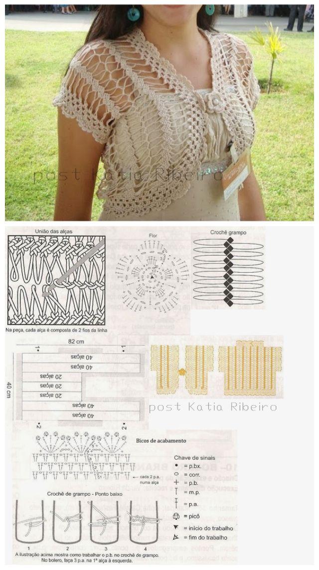 Free Crochet Patterns Bolero Diagram Electrical Drawing Wiring