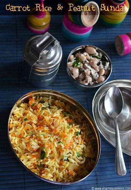 Carrot Rice , Peanut Sundal