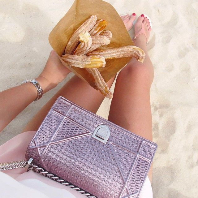 Churros and Dior! Credit: @dianematth #Diorvalley