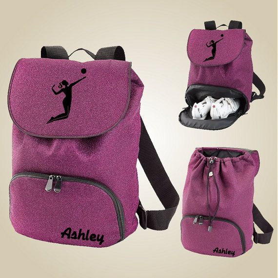 Volleyball gear bag  VolleyChick Glitter Backpack by VolleyChick