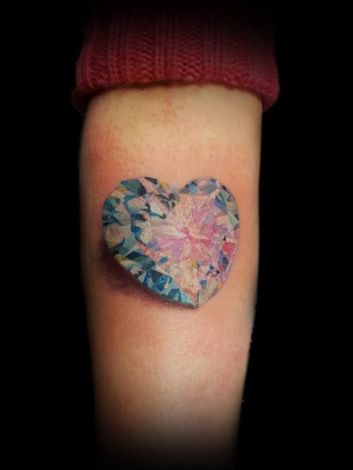 13 best heart shaped diamond tattoo men images on