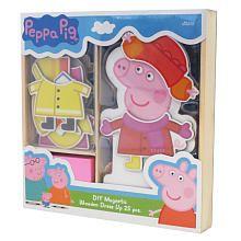 Peppa Pig Magnetic Wood Dress Up Box