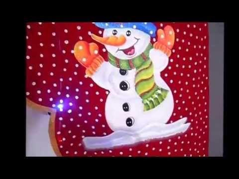 Cenefa Navideña Señor Nieve en 3D - YouTube