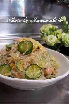 学校給食のバンサンスー☆中華風春雨サラダの画像