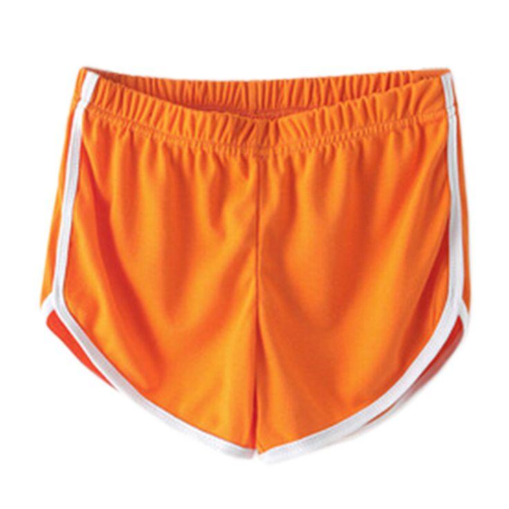 Orange, Women's Athletic Shorts Elastic Beach Shorts Swim Trunk for fitness