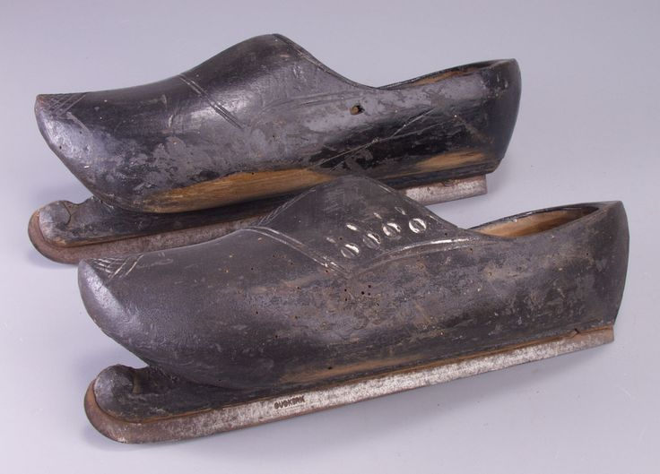 Ice skating clogs, designed and made by Yde Hamstra, 1880-1910, the Netherlands.