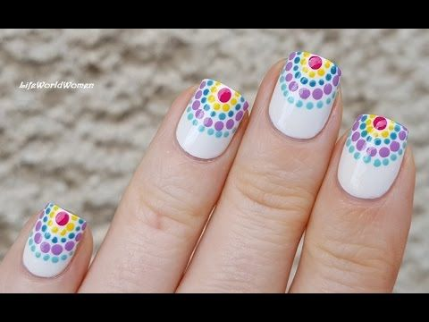TOOTHPICK NAIL ART #20 - DOTTICURE Nails For Summer - YouTube
