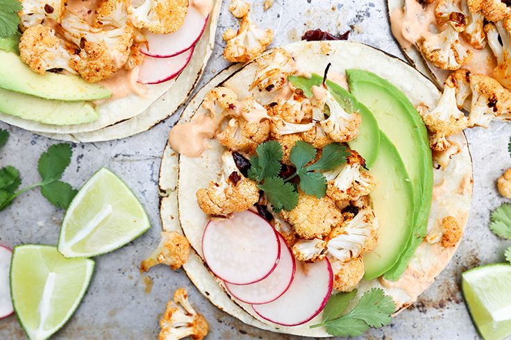 Dying to try these Roasted Cauliflower Tacos with Chipotle Cream from Floating Kitchen. Yum!