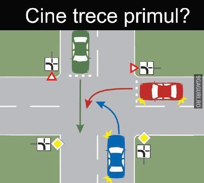 Cine trece primul?   Vezi Postarea ➡ http://9gaguri.ro/media/cine-trece-primul