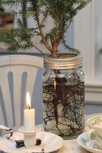 Minijuletre i Norgesglass