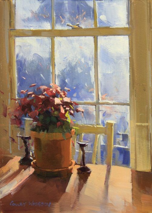 Oil Painting Interior Light Glow