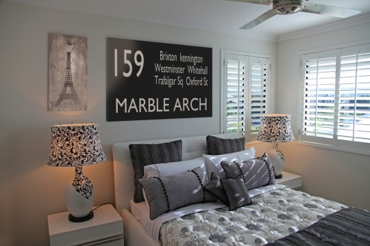 Landscape Bus Scrolls look great behind the bed or sofa.  Choose from our stock designs or personalise with your own destinations for free. A great talking point in any home.