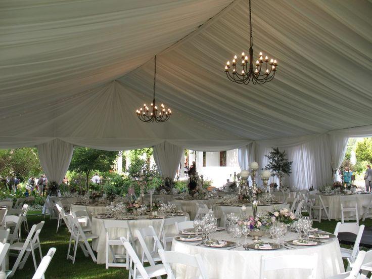 Draping wedding reception