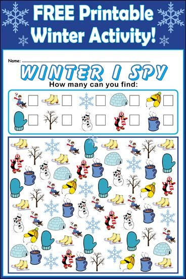 This winter themed I spy activity is perfect for when your kids are stuck inside due to the cold weather!