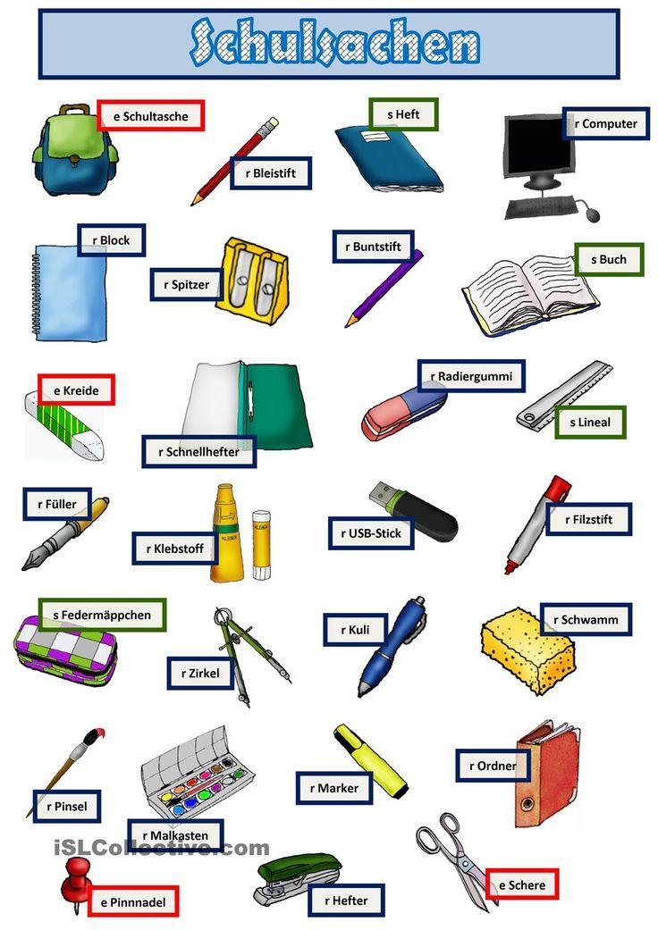 Schulsachen 1.