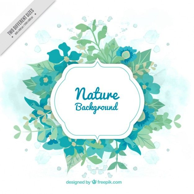 Green nature banner Free Vector