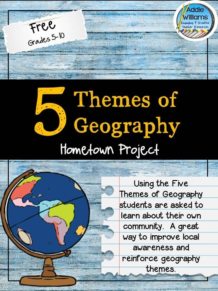 Five Themes of Geography #Free #ClassroomFreebies