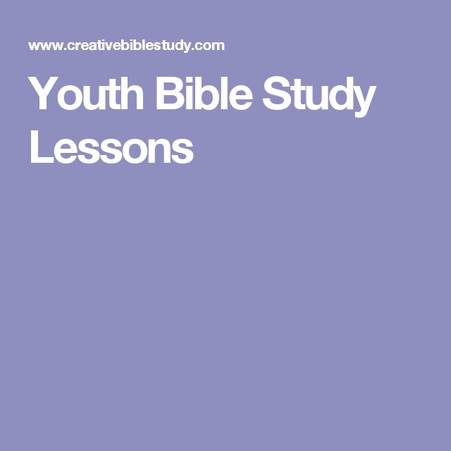 Youth Bible Study Lessons