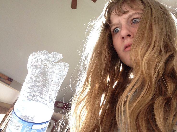 The water bottle broke!