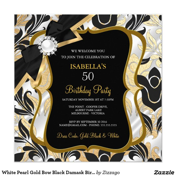 155 best Womens & Girls Birthday Party Invitations images on ...