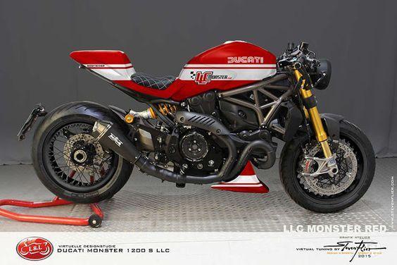 Ducati Monster 1200 S LLC Cafe Racer by GRAFIK ATELIER STEVEN FLIER | www.caferacerpasi...